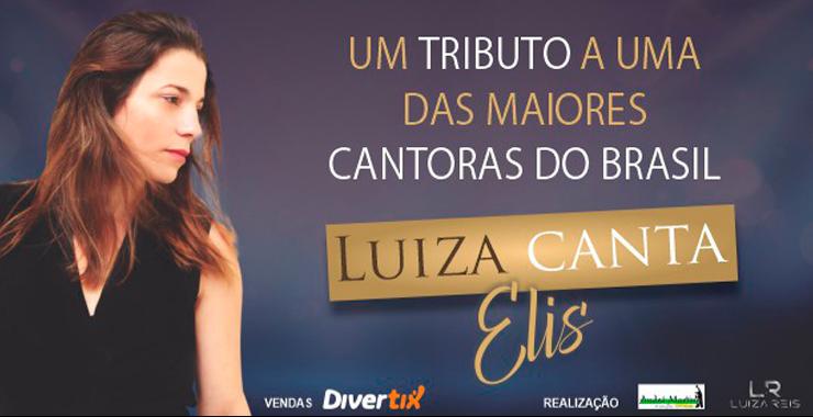 Banner da peça Luiza canta Elis