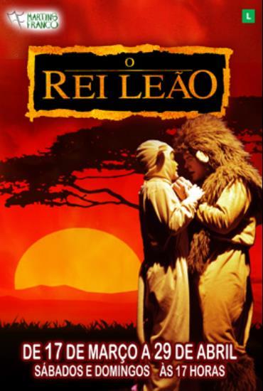 Capa da peça O Rei Leão