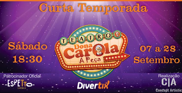 Banner da peça Dona Carola
