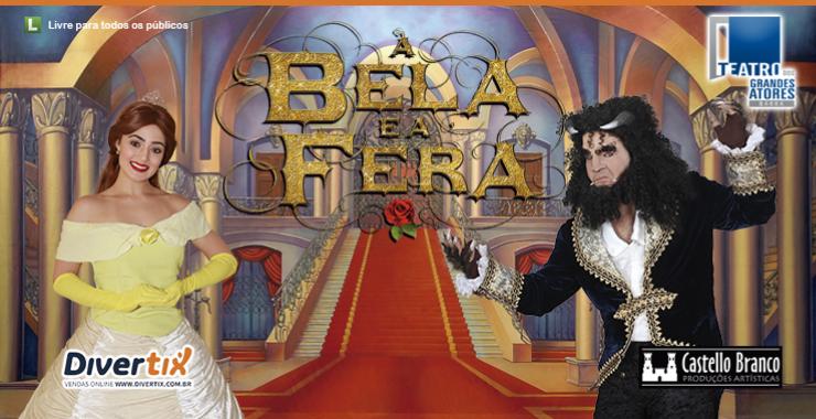 Banner da peça A Bela e a Fera