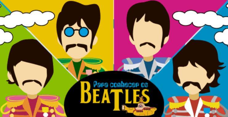 Banner da peça Para Conhecer os Beatles