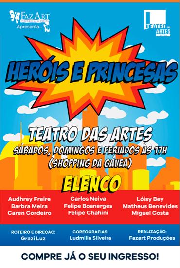 Capa da peça Heróis & Princesas