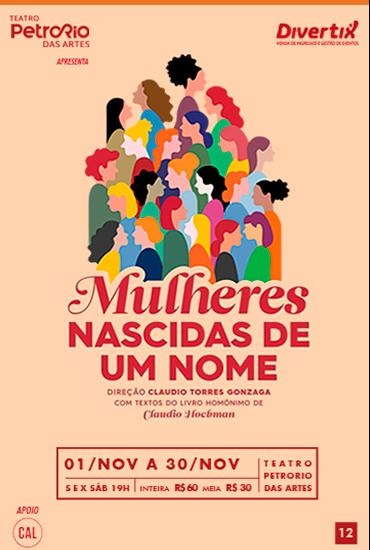 Capa da peça Mulheres Nascidas de um Nome