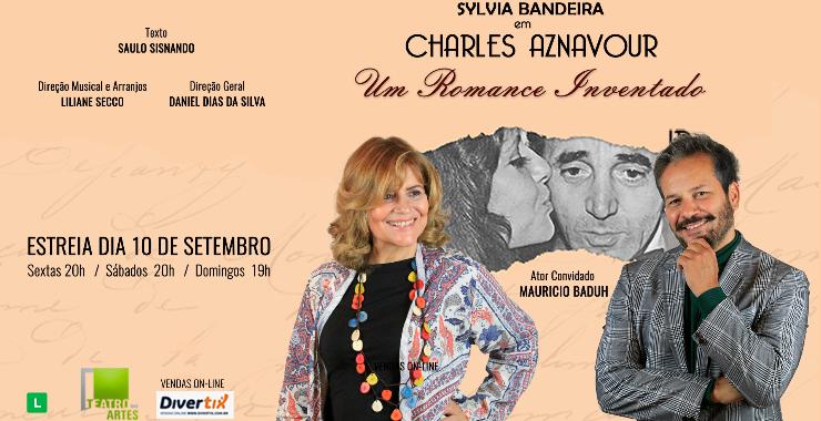 Banner da peça Charles Aznavour - Um Romance Inventado