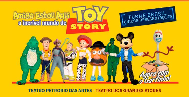 Banner da peça Toy Story