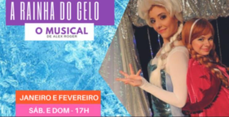 Banner da peça RAINHA DO GELO