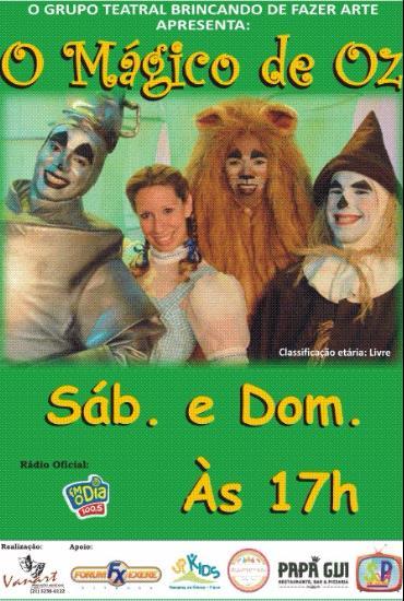 Capa da peça O Mágico de Oz