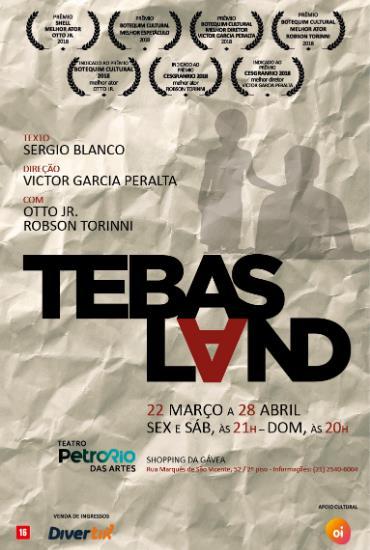 Capa da peça Tebas Land