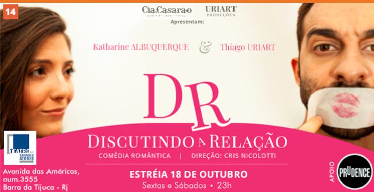 Banner da peça DR – Discutindo a Relação