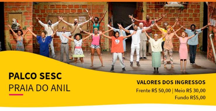Banner da peça TENDA - Favela 2 – A Gente Não Desiste