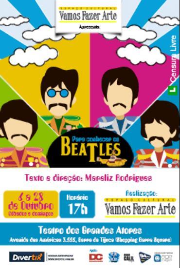 Capa da peça Para Conhecer os Beatles