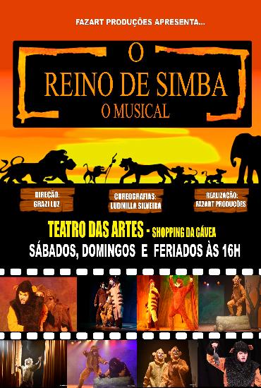 Capa da peça O Reino de Simba - o musical