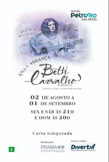 Capa da peça ANDANÇA – Beth Carvalho, o musical