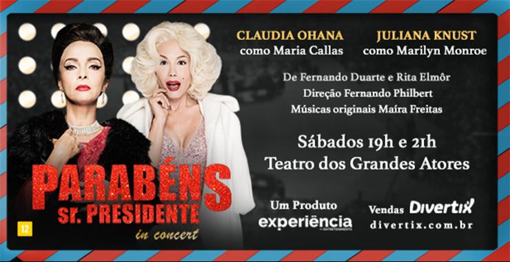 Banner da peça Parabéns Sr. Presidente - In Concert