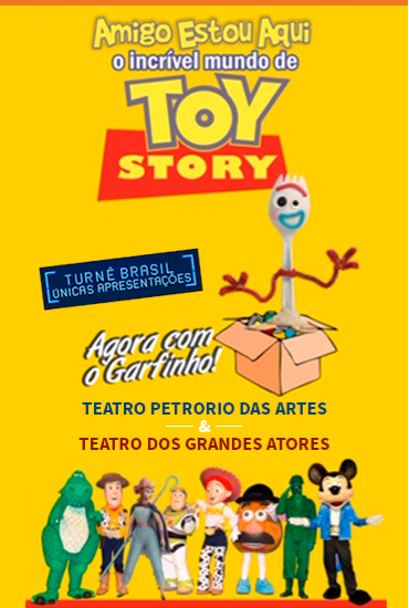 Capa da peça Toy Story