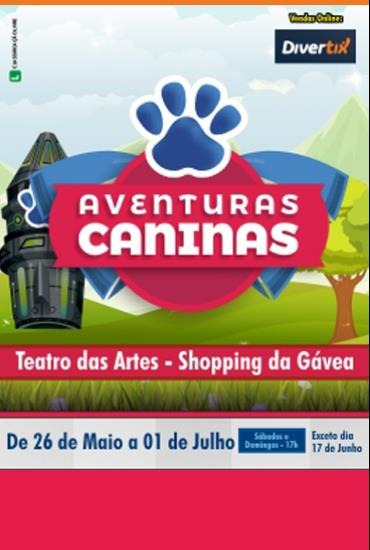 Capa da peça Aventuras caninas