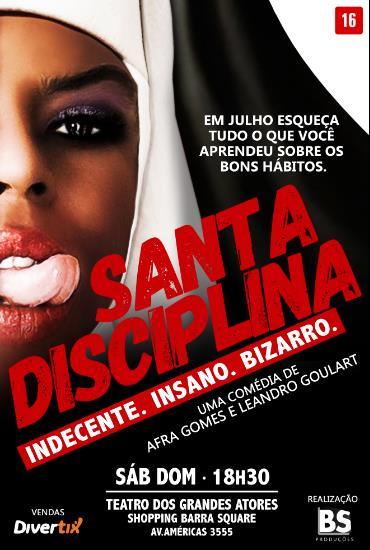 Capa da peça Os alunos do Colégio Santa Disciplina