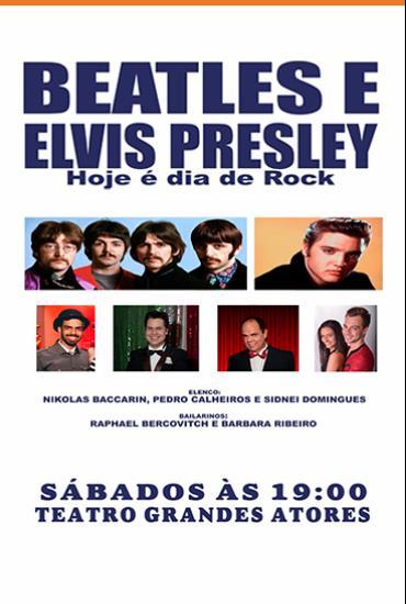 Capa da peça Beatles e Elvis Presley - Hoje é dia de rock