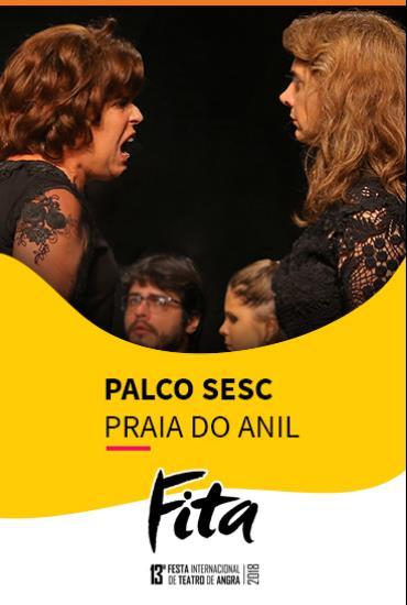 Capa da peça PALCO SESC  - Agosto