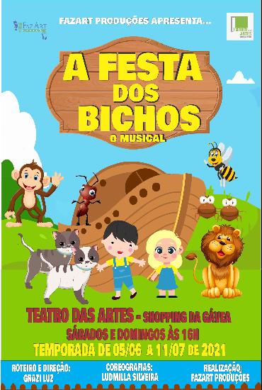 Capa da peça A Festa dos Bichos - O Musical