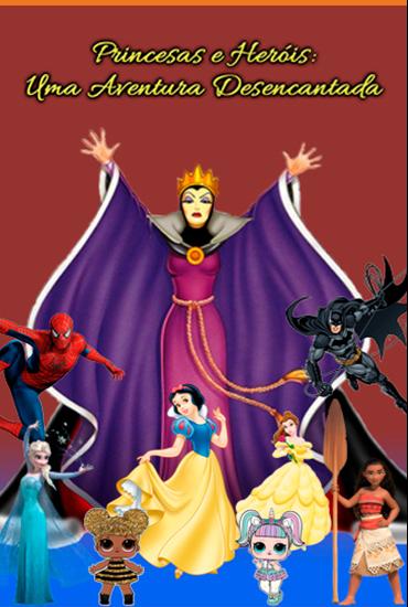 Capa da peça Princesas e Heróis-Uma Aventura Desencantada