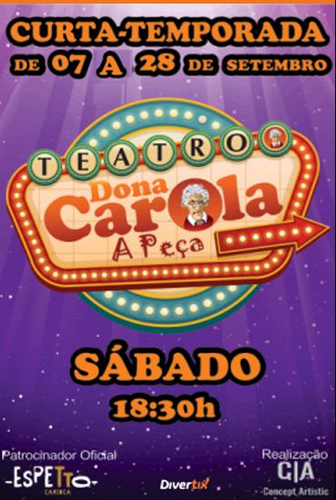 Capa da peça Dona Carola