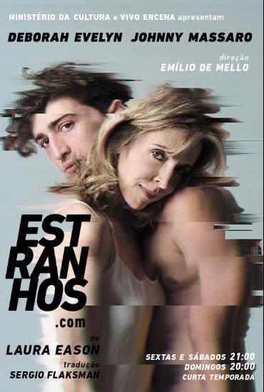 Capa da peça Estranhos.com