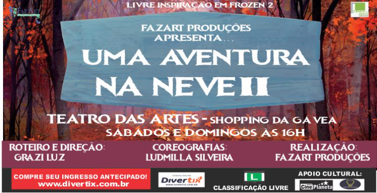 Banner da peça Uma Aventura na Neve 2