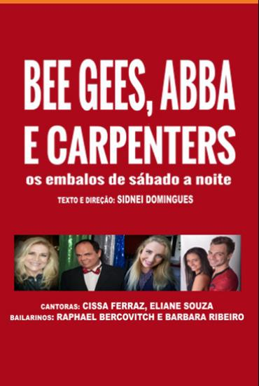 Capa da peça Bee Gees, Abba, Carpenters - embalos de sábado à noite
