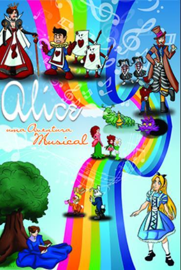 Capa da peça Alice - Uma Aventura Musical