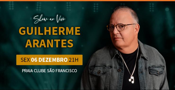 Banner da peça Show Guilherme Arantes