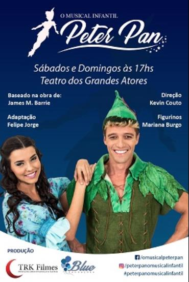 Capa da peça Peter Pan O Musical Infantil
