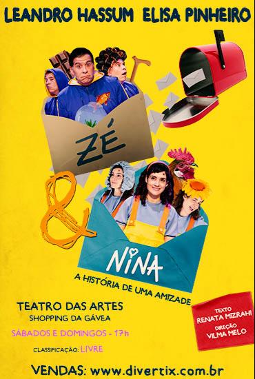 Capa da peça ZÉ e Nina - A História de Uma Amizade
