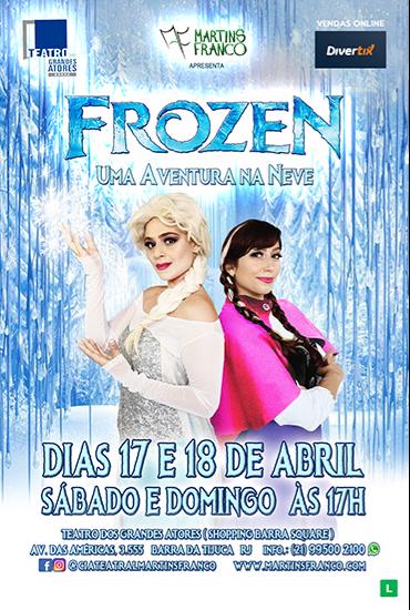 Capa da peça Frozen - Uma aventura na neve