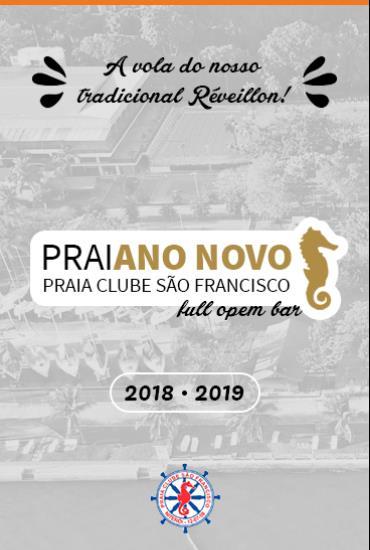 Capa da peça PraiANO NOVO - Réveillon do Praia Clube São Francisco