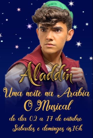 Capa da peça Aladdin - Uma Noite na Arábia