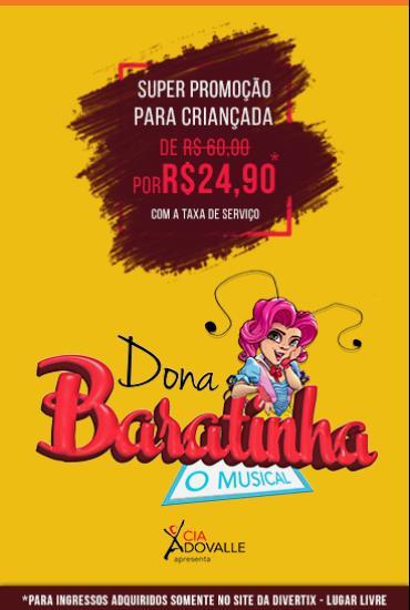 Capa da peça Dona Baratinha - O Musical
