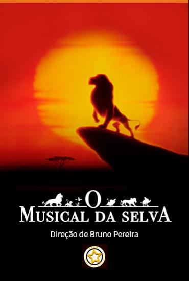 Capa da peça O musical da selva - Rei Leão