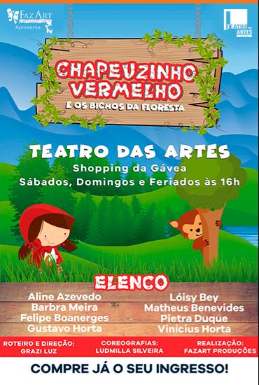 Capa da peça Chapeuzinho Vermelho