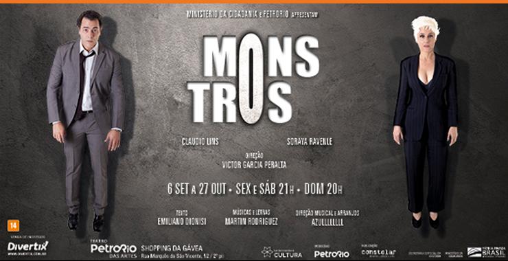 Banner da peça MONSTROS