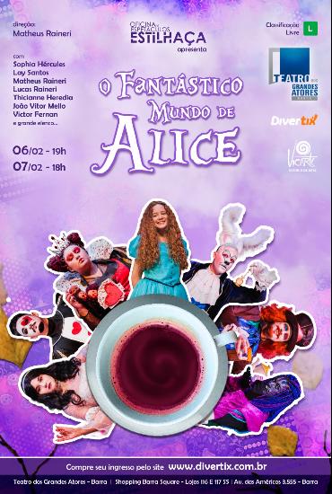 Capa da peça O fantástico mundo de Alice