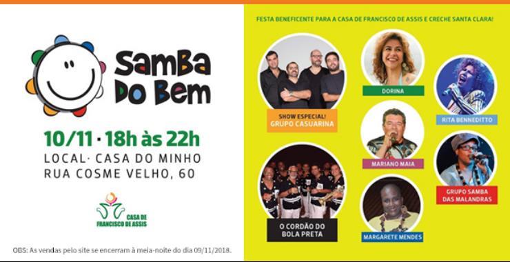 Banner da peça Samba do Bem